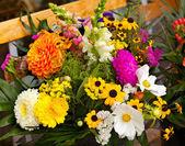 Beautiful bouquet of bright  wildflowers — Stock Photo