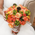 Bridal flowers — Stock Photo