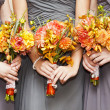 Stock Photo: Bridesmaids with bouquets