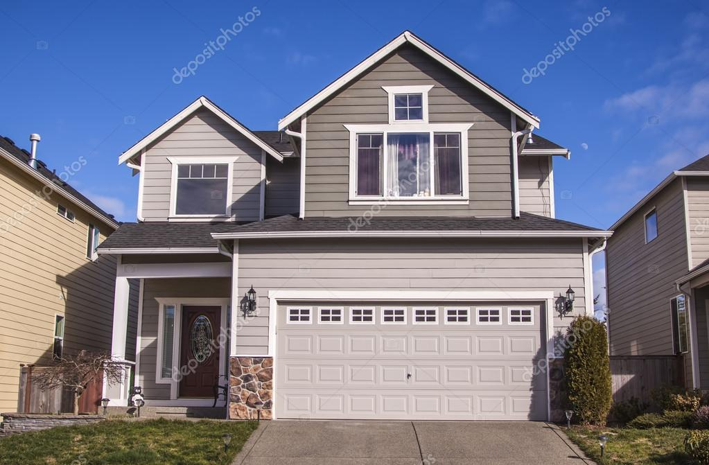 American Style House Stock Photo Alexmisu 21471531