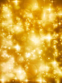 Festive golde bokeh lights vector background — Stockvektor
