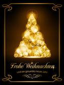 Christmas card, Weihnachtskarte — Stock Vector