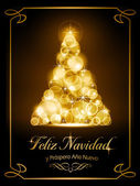 Christmas card, tarjeta navide� — Vector de stock