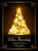 Christmas card, tarjeta navide� — Stock Vector