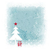 Winter Christmas background with Christmas tree — Stockvector