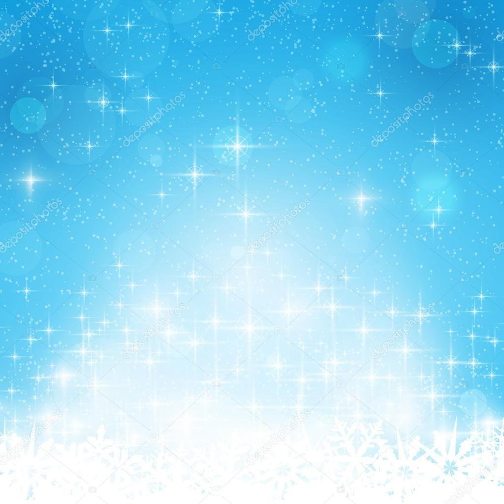 blue winter christmas background stars and lights stock abstract blue festive background out of focus light dots stars and snowflakes great for the festive season of christmas or any winter theme