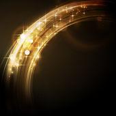 Abstracto circular luz frontera con estrellas — Vector de stock