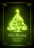 Christmas card, tarjeta de navidad — Stock Vector
