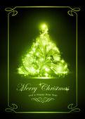 Elegant golden Christmas card — Stock Vector
