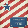 Stars and Stripes in red blue - Imagen vectorial