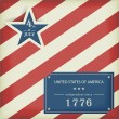 Stars and Stripes in red blue - Stockvektor