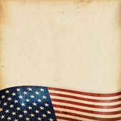 Fondo Grunge con bandera usa ondulado — Vector de stock