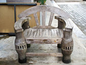 Old wooden chair — Stok fotoğraf