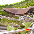 Bicycle seat brown — Stock Photo