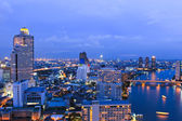 City Top View in bangkok — Stock Photo