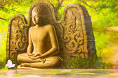 Buddha oil paintings in Thailand — Stock Photo