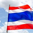 Waving Thai flag with blue sky background — Stock Photo