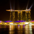 图库照片: SINGAPORE - JAN 25: MarinBay Sands, World's most expensive sta