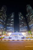 SINGAPORE-JAN 24: Suntec Towers at dusk on JAN 24,2014 in Singap — Foto Stock