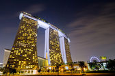 SINGAPORE - JAN 23: Marina Bay Sands, World's most expensive sta — 图库照片