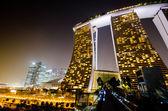 SINGAPORE - JAN 25: Marina Bay Sands, World's most expensive sta — Stock Photo