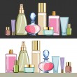 cosmetics — Stock Vector