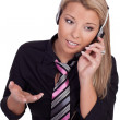 Beautiful call centre operator — Stock Photo #21081869