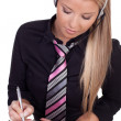 Personal assistant making an appointment — Stock Photo