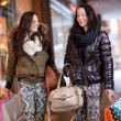 Two women out shopping — Stock Photo