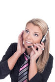 Female call center agent — Stock Photo