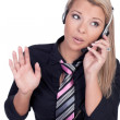 Young call center agent — Stock Photo