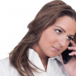 Brunette on cell phone — Stock Photo