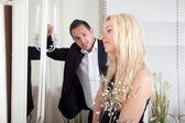 Man admiring a beautiful woman — Stock Photo