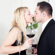 Couple in love kissing — Stock Photo