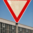 Stock Photo: Yield traffic sign