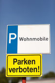 Parking signage for trailers and mobile homes — Zdjęcie stockowe