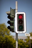 Red traffic light — Stock Photo
