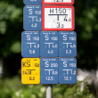 Collection of german utilities supply signage — Stock Photo
