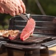 Steak turn — Stock Photo