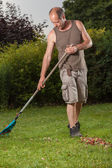 Grass cleanup — Stock Photo