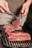 Grilled steaks — Stock Photo