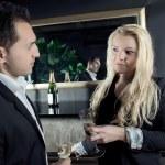 Champagne at a bar — Stock Photo #33602581