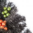 Black Christmas Tree — Stock Photo