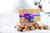 Nature Xmas Gift stand — Stock Photo