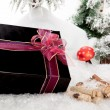 Black Christmas Present — Stock Photo