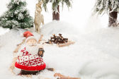 Santa Claus Winter Scene — Foto de Stock