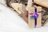 Motorized Christmas Gift Service — Stock Photo