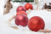 Red Christmas bauble — Stock Photo