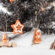 Christmas Tree Scenery — Stock Photo