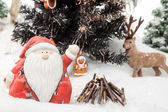 Santa Claus X-Mas wishes — Stock Photo